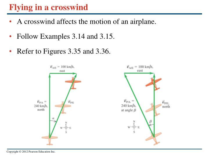 Flying in a crosswind