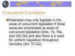 concurrent legislation