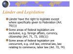 l nder and legislation