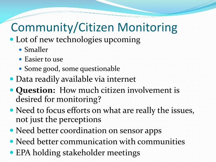 Community/Citizen Monitoring