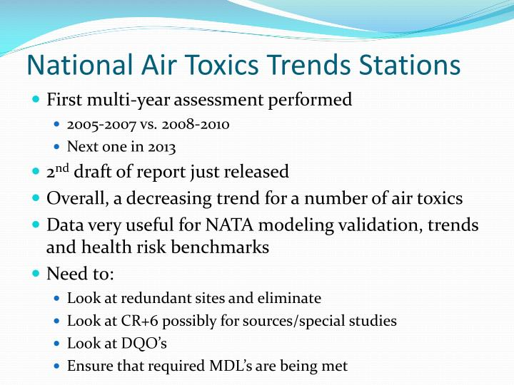 National Air Toxics Trends Stations