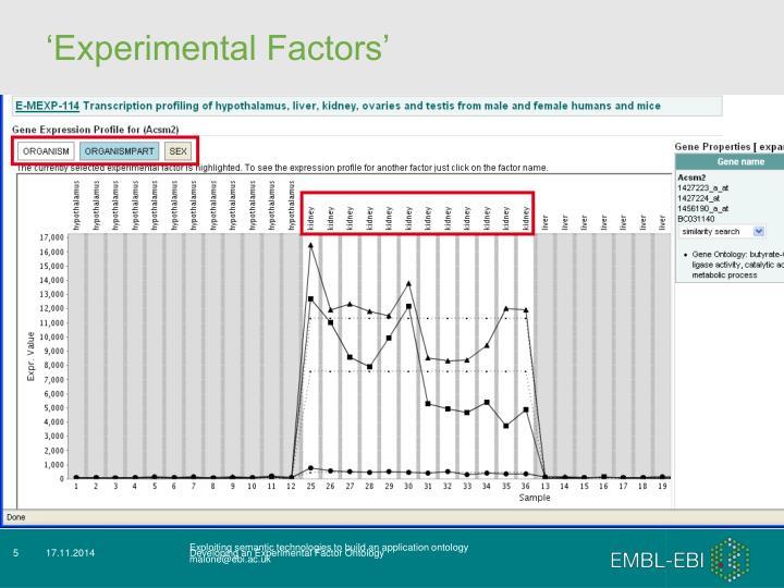 'Experimental Factors'