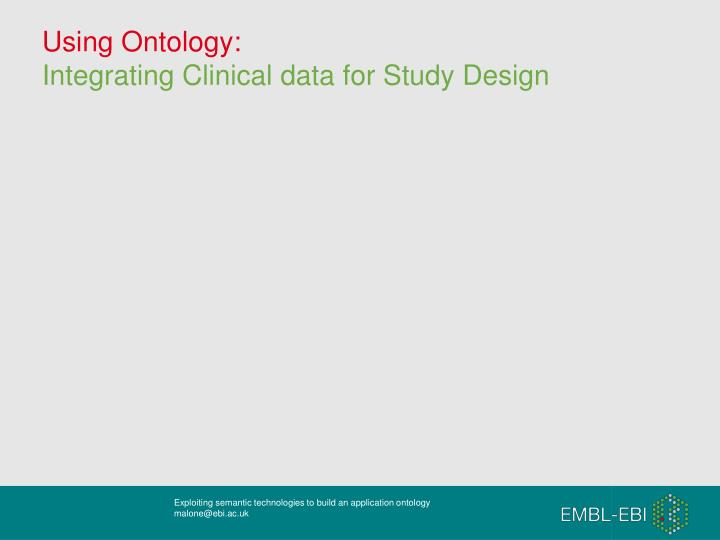 Using Ontology: