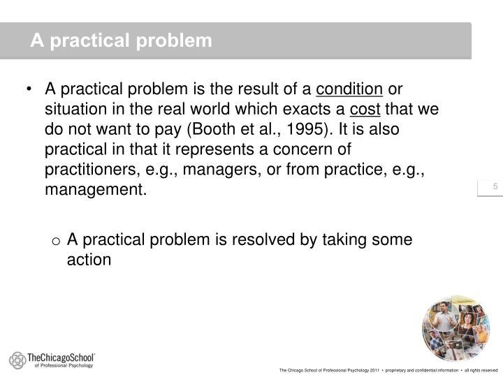 A practical problem