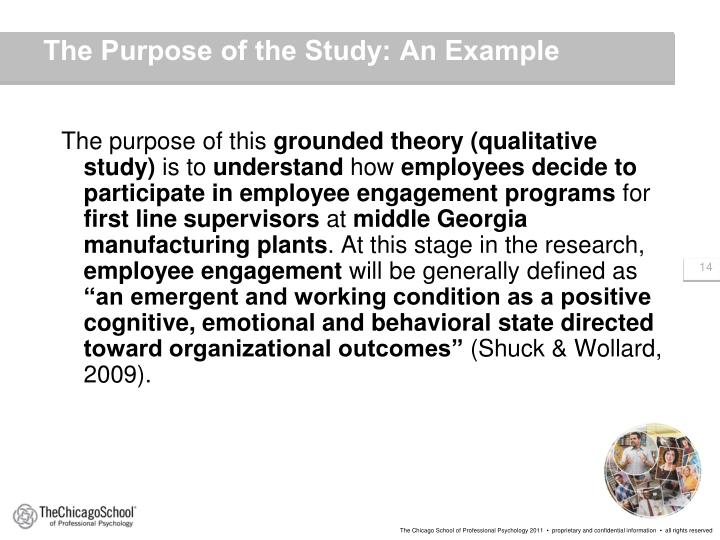 The Purpose of the Study: An Example