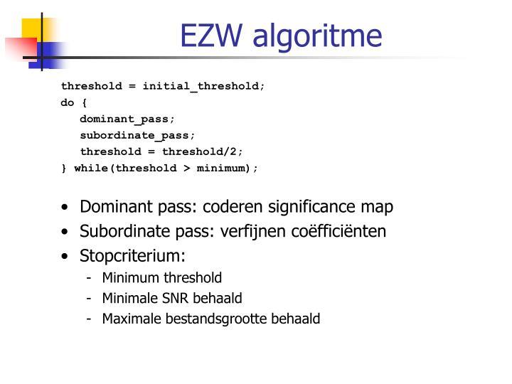 EZW algoritme