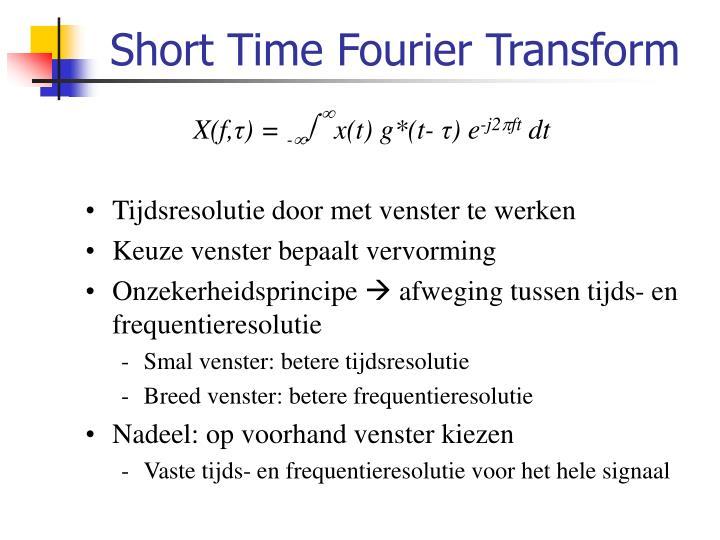 Short Time Fourier Transform