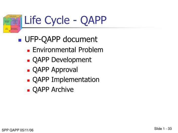 Life Cycle - QAPP