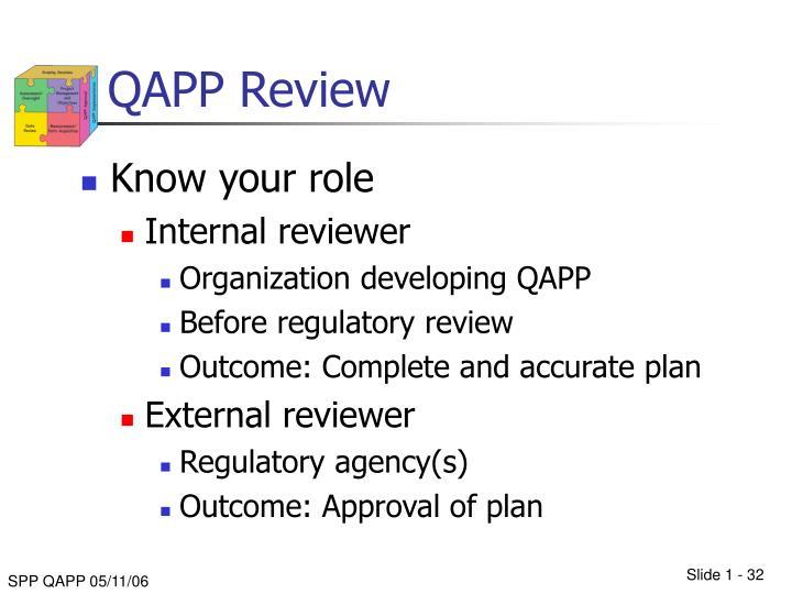 QAPP Review