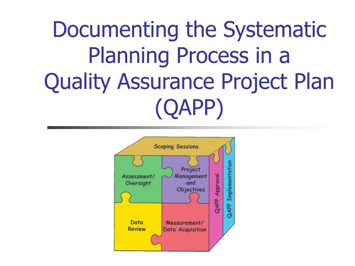 Documenting the Systematic Planning Process in a