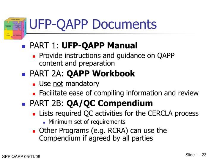 UFP-QAPP Documents