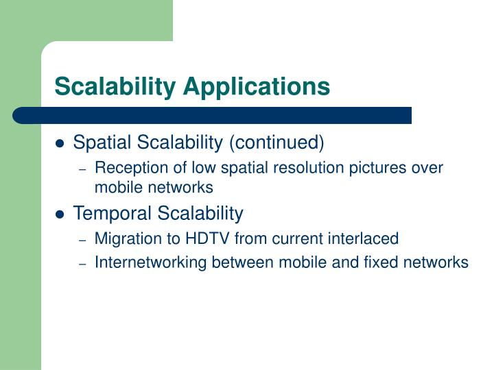 Scalability Applications