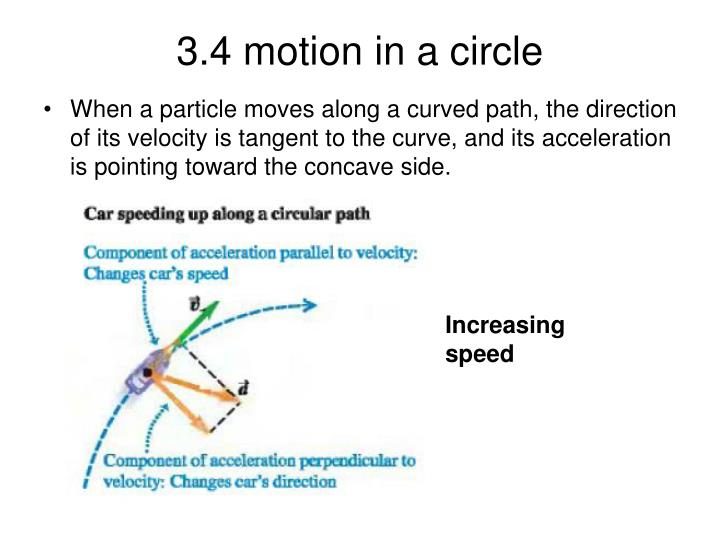 3.4 motion in a circle