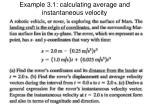 example 3 1 calculating average and instantaneous velocity