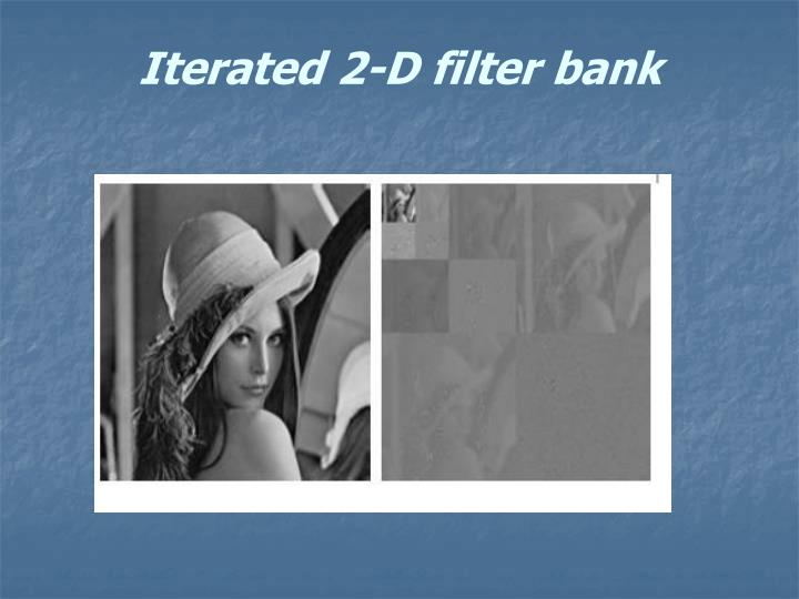 Iterated 2-D filter bank