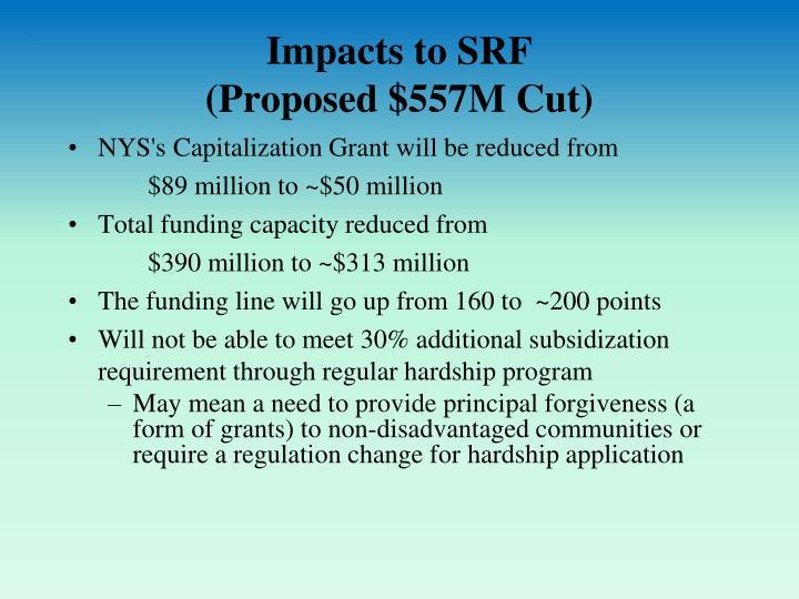 Impacts to SRF