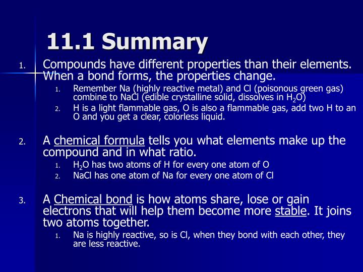 11.1 Summary