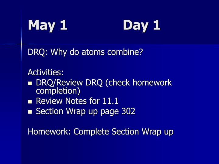 May 1              Day 1