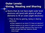 outer levels giving stealing and sharing