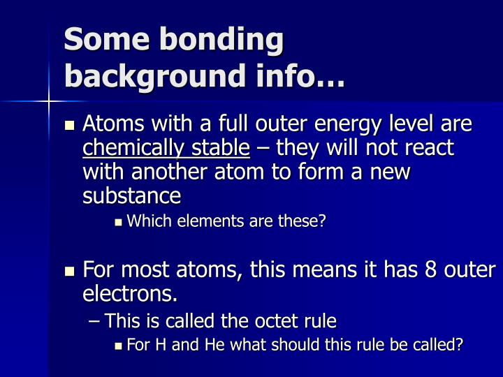 Some bonding background info…