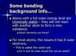 some bonding background info
