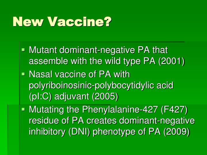 New Vaccine?