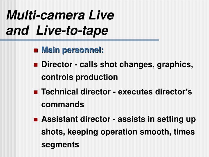 Multi-camera Live