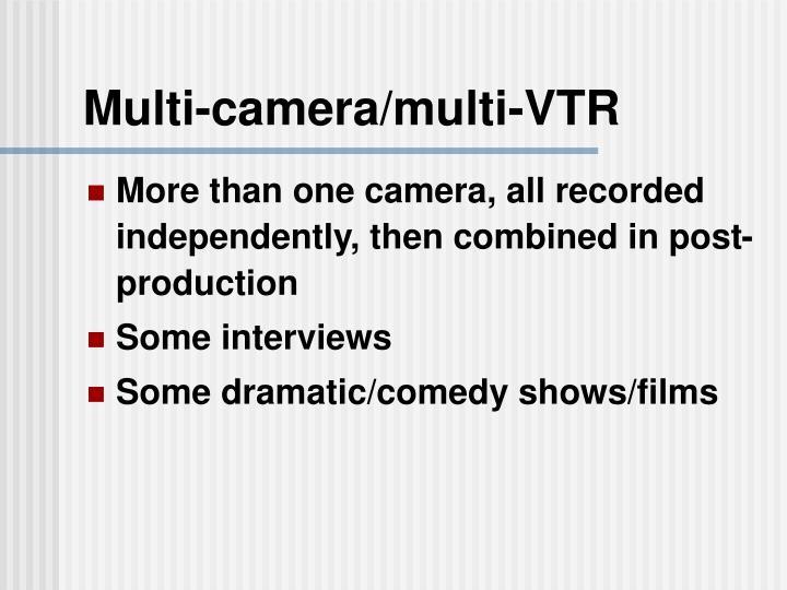 Multi-camera/multi-VTR