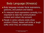 body language kinesics