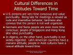 cultural differences in attitudes toward time