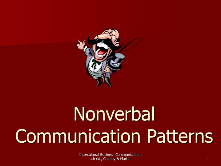 nonverbal communication patterns
