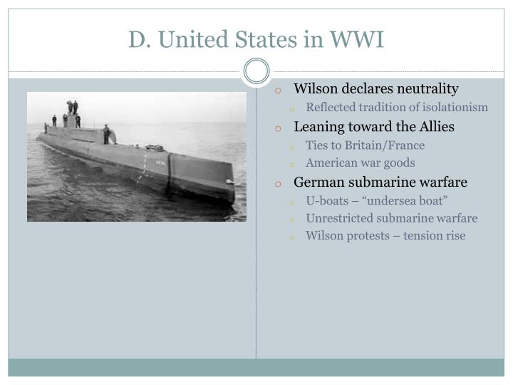 D. United States in WWI