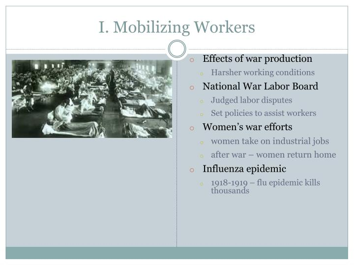I. Mobilizing Workers