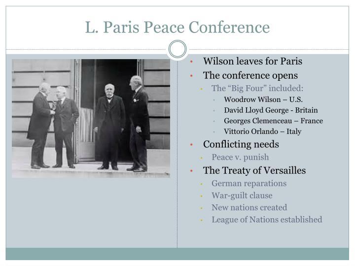 L. Paris Peace Conference