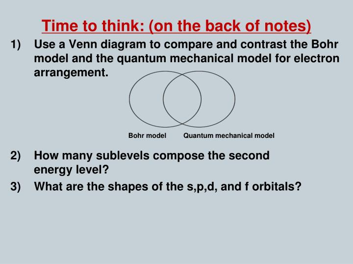 Time to think: (on the back of notes)