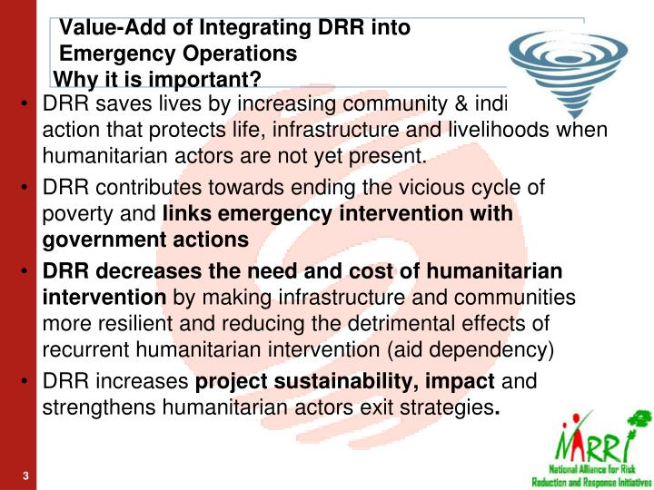 Value-Add of Integrating DRR into
