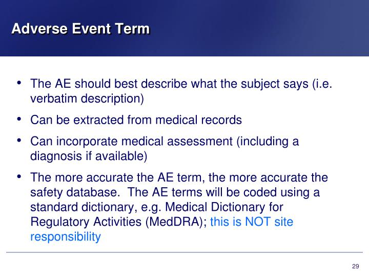 Adverse Event Term