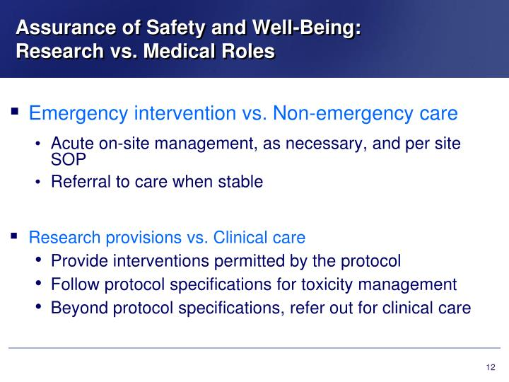 Assurance of Safety and Well-Being: