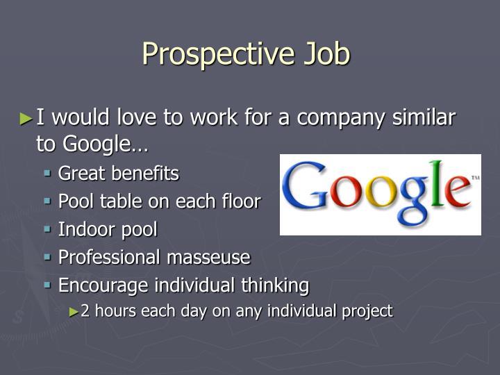 Prospective Job