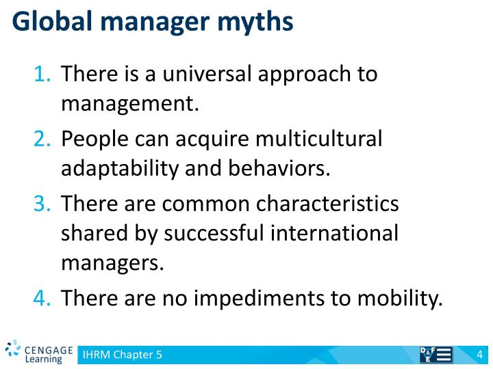 Global manager myths