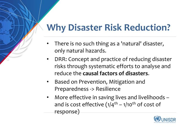 Why disaster risk reduction