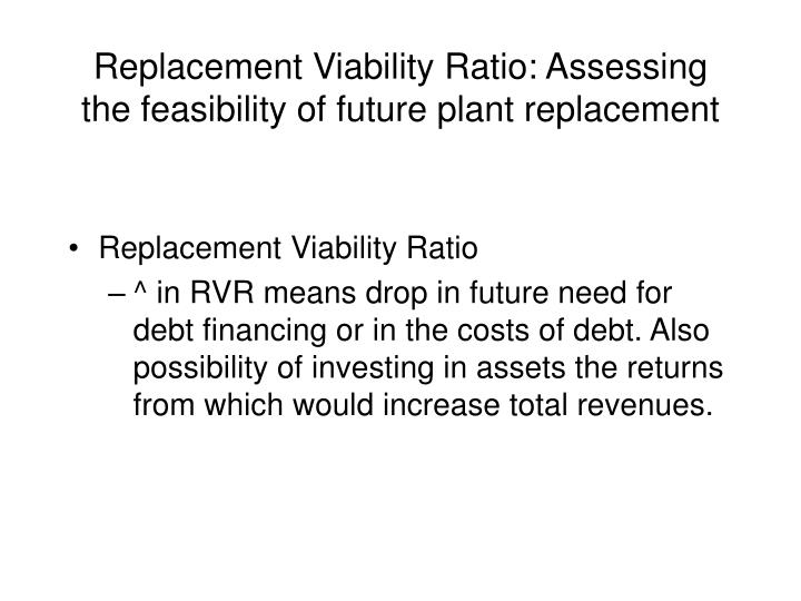 Replacement Viability Ratio: Assessing the feasibility of future plant replacement
