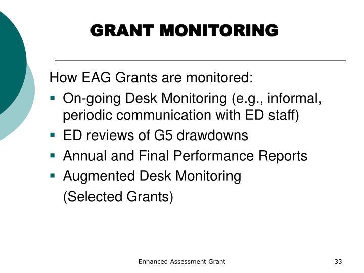 GRANT MONITORING
