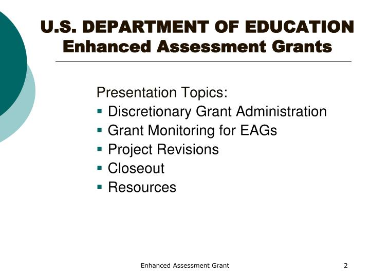 U s department of education enhanced assessment grants1