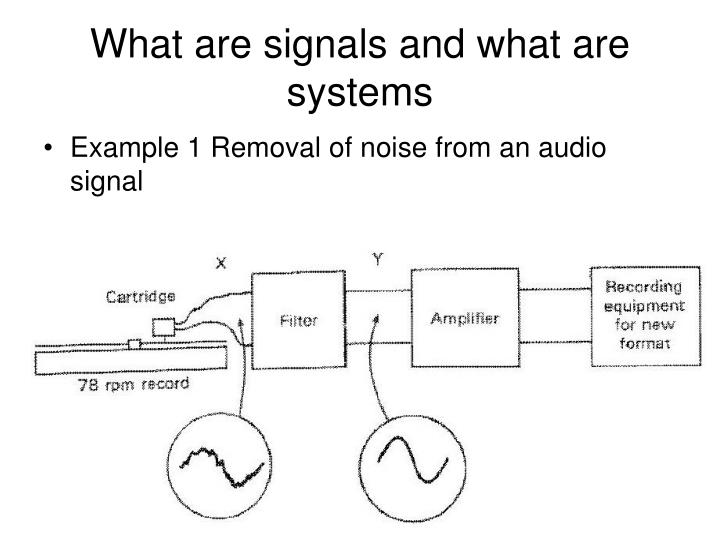 What are signals and what are systems