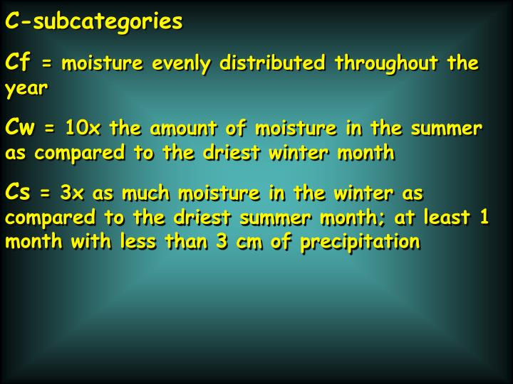 C-subcategories