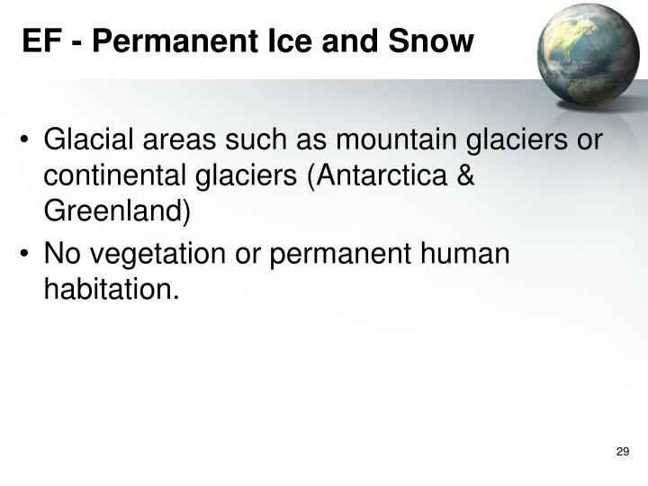 EF - Permanent Ice and Snow