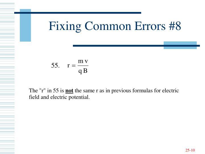 Fixing Common Errors #8
