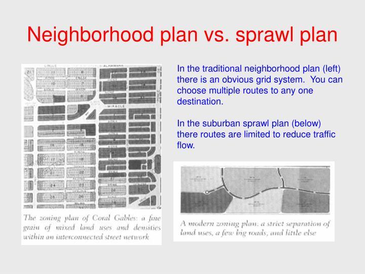 Neighborhood plan vs. sprawl plan