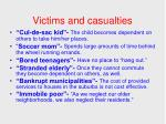 victims and casualties